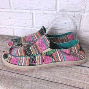 Sanuk Flats Size 6 Slip On Shoes Multicolor Loafer